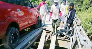 Miris, Jembatan Penghubung Antar Desa di Mora 3 Rusak Parah, Luput Perhatian Pemerintah