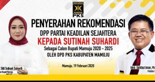 Keren.. Malam ini PKS Serahkan Rekemondasi DPP Kepada Sutinah Suhardi