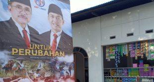 Warga Majene Sukarela Buat Spanduk Kampung Pendukung Ast-Aris Kalma