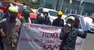 Aliansi Mahasiswa Penyelamat Undang-Undang (AMPU) Demo Kantor DPP BAIN HAM RI Salah Alamat