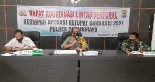 Kapolres Pasangkayu Pimpin Rakor Lintas Sektoral Kesiapan Operasi Ketupat